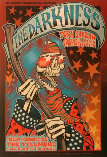The Darkness - The Fillmore - February 21, 2012 (Poster)