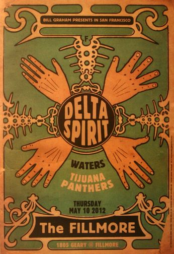 Delta Spirit - The Fillmore - May 10, 2012 (Poster)