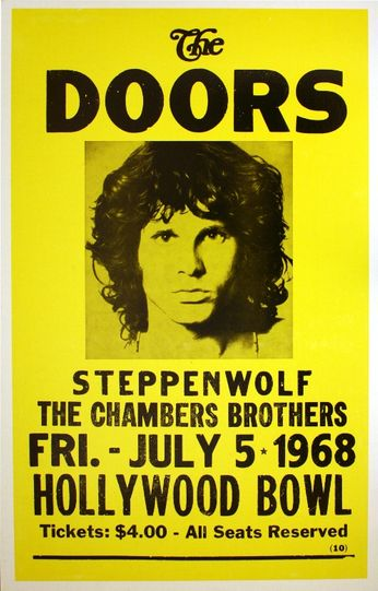The Doors - Hollywood Bowl - July 5, 1968 (Poster)