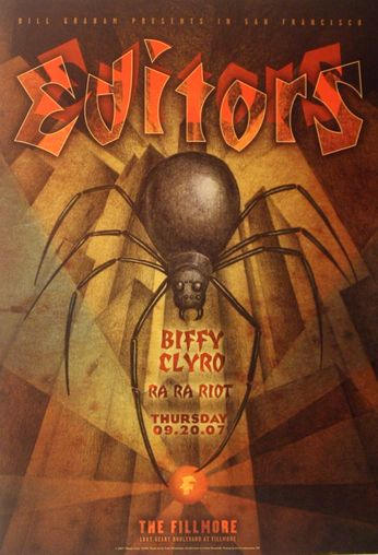 Editors - The Fillmore - September 20, 2007 (Poster)