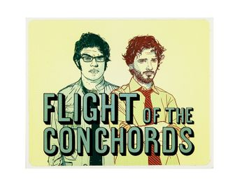Flight Of The Conchords - Bret & Jermaine (Sticker)