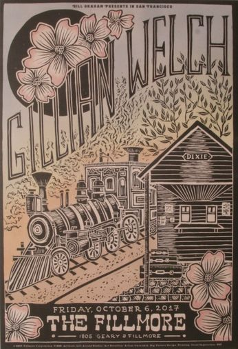 Gillian Welch - The Fillmore - October 6, 2017 (Poster)