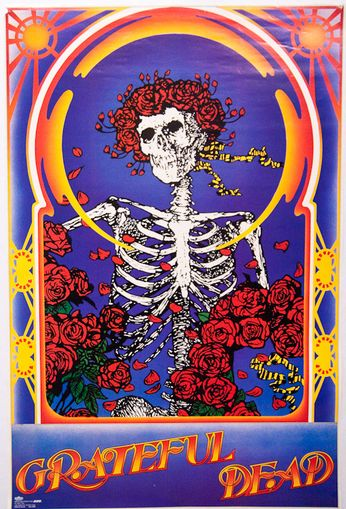 Grateful Dead Skeleton And Roses Poster Amoeba Music