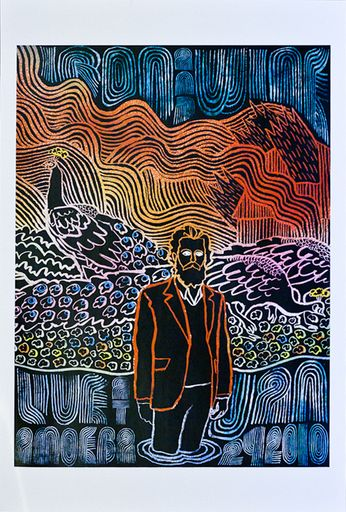 Iron and Wine - Live at Amoeba (Poster)