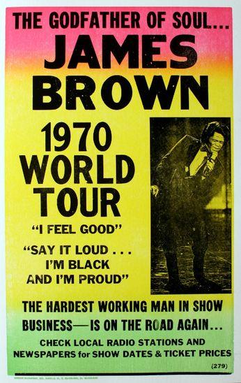james brown - 1970 world tour  poster