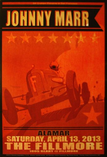 Johnny Marr - The Fillmore - April 13, 2013 (Poster)