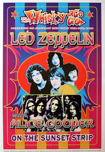 Led Zeppelin / Alice Cooper - The Whiskey A Go Go - January 2 - 5, 1969 (Poster)