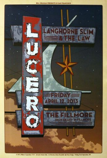 Lucero - The Fillmore - April 12, 2013 (Poster)