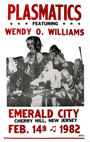 Plasmatics - Emerald City - February 14, 1982 (Poster)