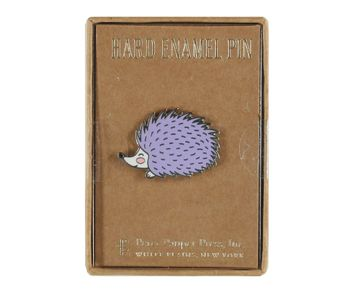 Hedgehog - Purple and Blushing (Pin)