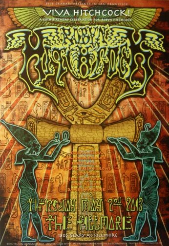 Robyn Hitchcock - The Fillmore - May 2, 2013 (Poster)
