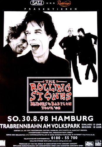 Rolling Stones Trabrennbahn Am Volspark Hamburg August