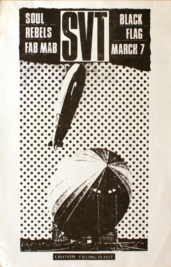 Black Flag / SVT - Mabuhay Gardens (The Fab Mab) - March 7, 1981 (Poster)