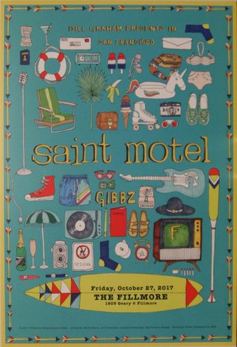 Saint Motel - The Fillmore - October 27, 2017 (Poster)