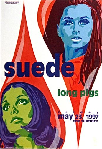 Suede - The Fillmore - May 23, 1997 (Poster)