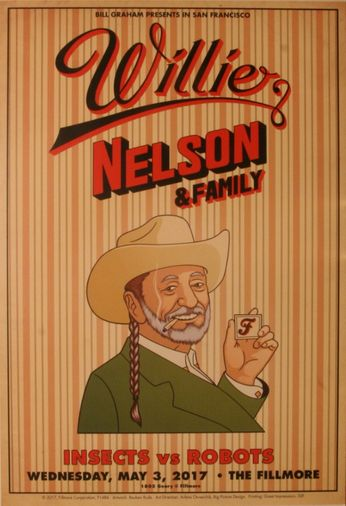 Willie Nelson & Family - The Fillmore - May 3, 2017 (Poster)