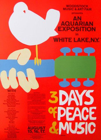 Woodstock 3 days of Peace and Music (Poster)