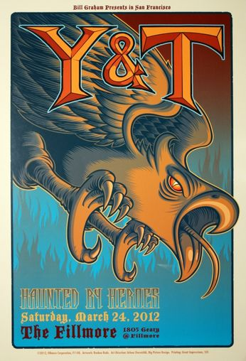 Y&T - The Fillmore - March 24, 2012 (Poster)