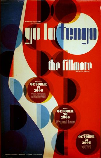 Yo La Tengo - The Fillmore - October 19-21, 2006 (Poster)