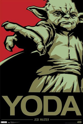 Star Wars - Yoda Jedi Master (Movie Poster)