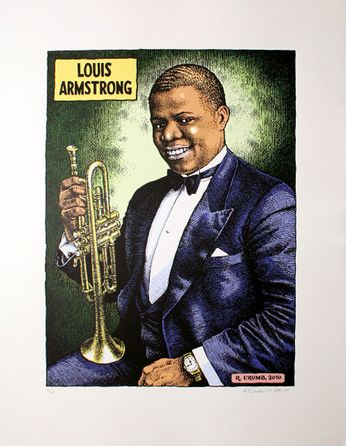Robert Crumb - Louis Armstrong [Limited Hand Numbered / Autographed] (Poster)