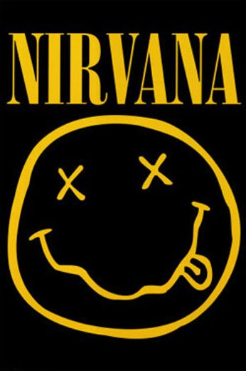 Nirvana - Smiley Face (Poster)