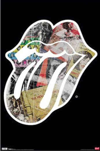 The Rolling Stones - Tongue with Album Covers (Poster)