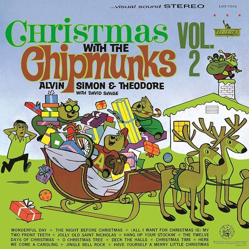The Chipmunks Christmas With The Chipmunks Vol 2 White