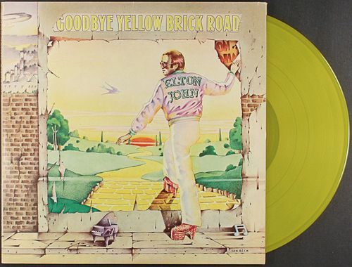 Elton John Goodbye Yellow Brick Road Uk Yellow Vinyl