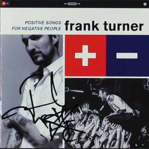 Frank Turner Positive Songs For Negative People Signed