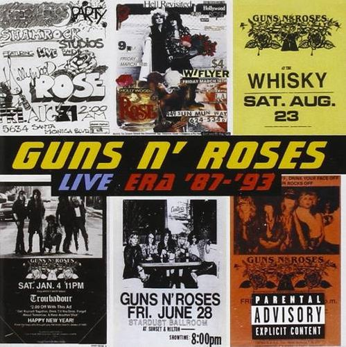 guns n roses live era 8793 cd amoeba music