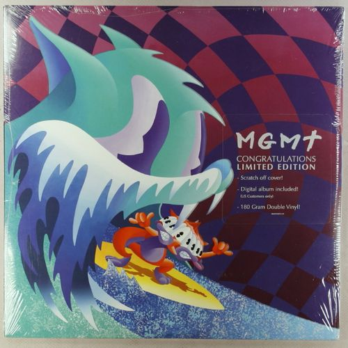 Mgmt Congratulations Scratch Off Cover Edition Vinyl