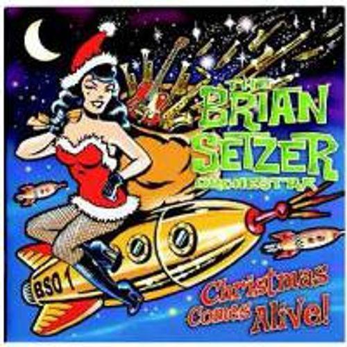 Brian Setzer Christmas.The Brian Setzer Orchestra Christmas Comes Alive Cd