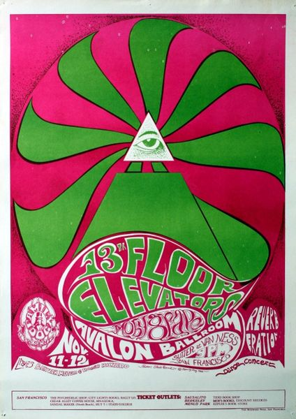 13th Floor Elevators   The Avalon Ballroom   November 11 12, 1966 (Poster)