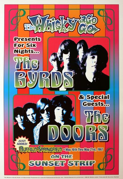 The Byrds and The Doors - The Whiskey-A-Go-Go - May 16-21 1967 (Poster)  sc 1 st  Amoeba Music & The Byrds and The Doors - The Whiskey-A-Go-Go - May 16-21 1967 ...