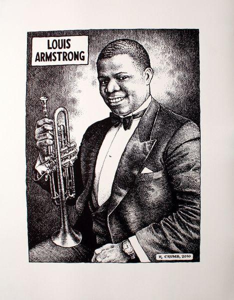 Robert Crumb Louis Armstrong B Amp W Poster Amoeba Music