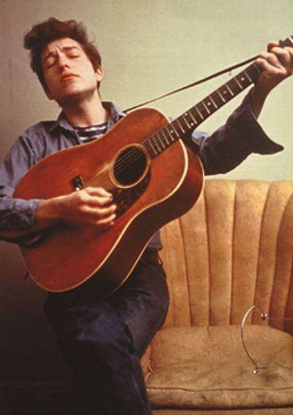 Bob Dylan Dylan With Guitar Color Poster Amoeba Music