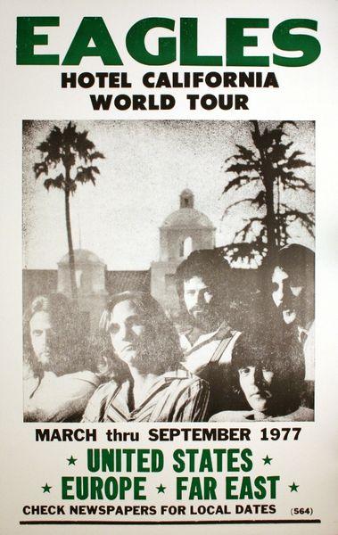 The Eagles  California Tour Poster