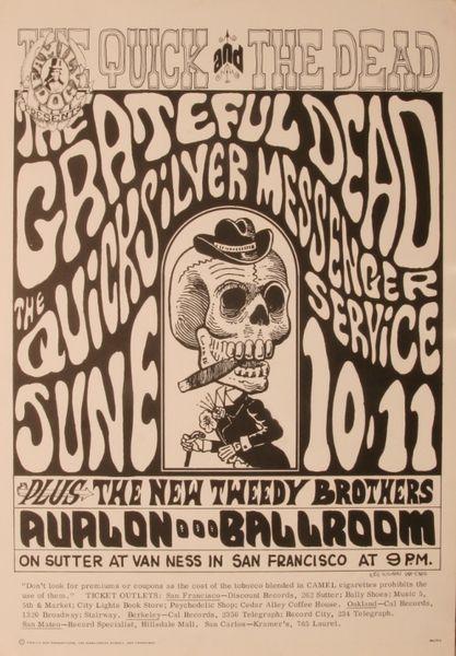 Grateful Dead/Quicksilver Messenger Service - The Avalon ... Quicksilver Messenger Service Poster
