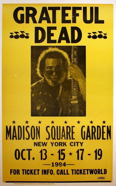 Grateful Dead Madison Square Garden October 13 15 17 19 1994 Poster Amoeba Music