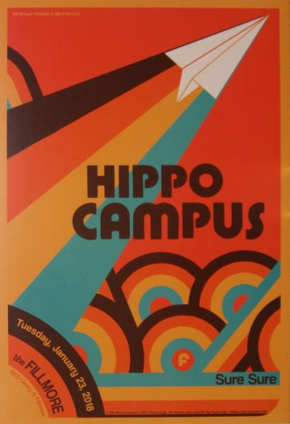Hippo Campus The Fillmore January 23 2018 Poster