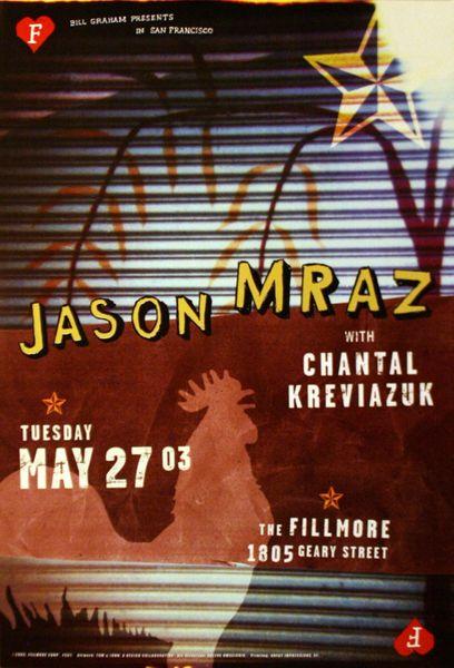 Jason Mraz - The Fillmore - May 27, 2003 (Poster) - Amoeba Music