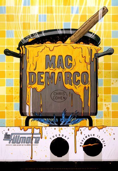 How To Design Poster On Mac: Mac Demarco - The Fillmore - November 11 2014 (Poster) - Amoeba Musicrh:amoeba.com,Design