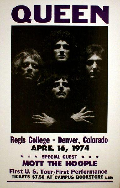 Queen Regis College April 16 1974 Poster Amoeba Music