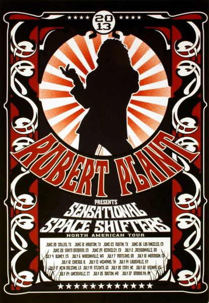 Robert Plant 2013 North American Tour Poster Amoeba