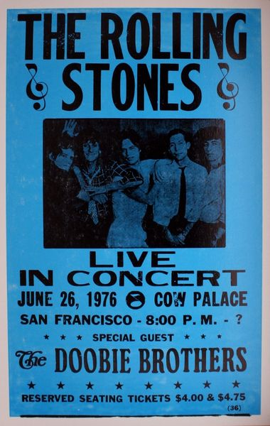 Rolling Stones Cow Palace June 26 1976 Poster