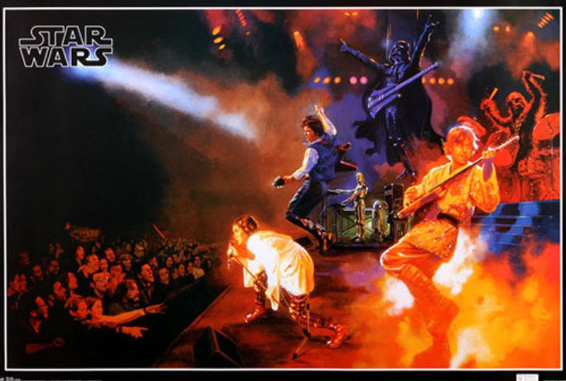 star wars - rock band (movie poster) - amoeba music