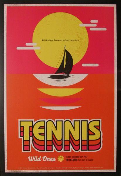 Tennis The Fillmore November 17 2017 Poster Amoeba Music