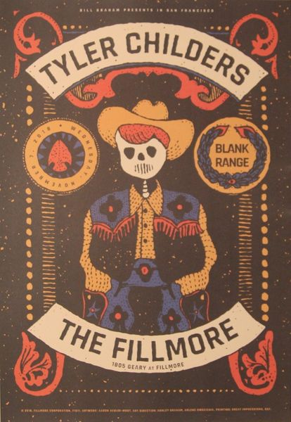 Tyler Childers The Fillmore November 7 2018 Poster