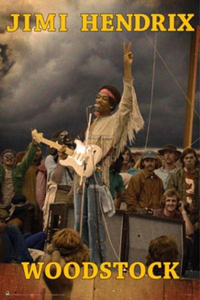 Jimi Hendrix Woodstock Poster Amoeba Music